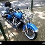 Full View Of A Blue Harley Davidson Flhrc Road King Motorbike Looking From Slightly Above Stock Photo Alamy
