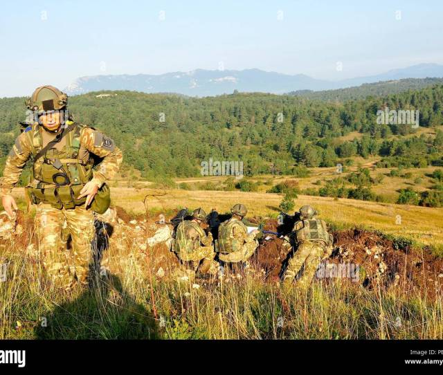 Slovenian Soldiers Conduct Training During At Immediate Response  2015 Near Postonja Slovenia Ir 15 Is A Multinational Brigade Level