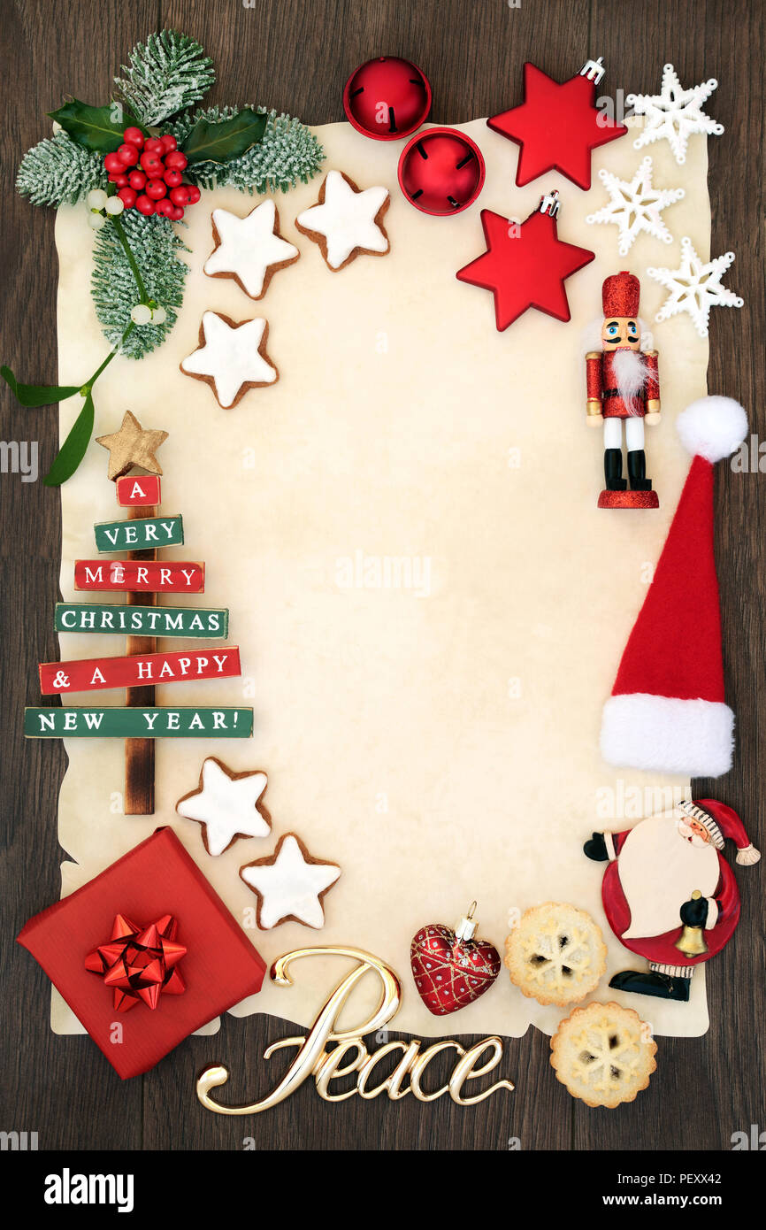 Christmas Party Invitation Or Blank Letter To Santa Claus