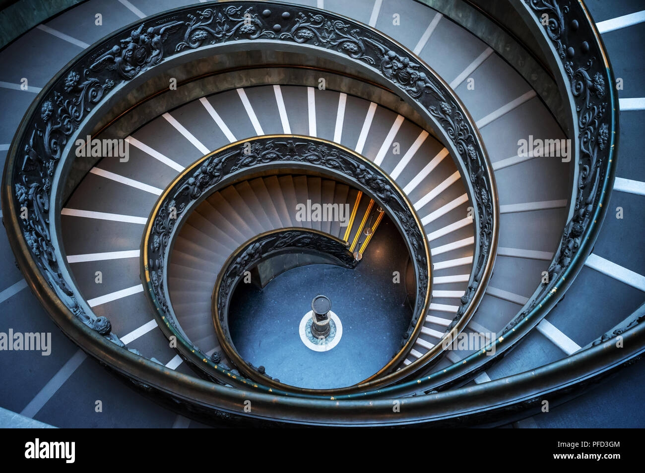 Vatican Double Helix Spiral Staircase In Rome Italy Stock Photo | Double Helix Spiral Staircase | Plan | Double Helical | Three Landing Design | Architecture | 1950'S