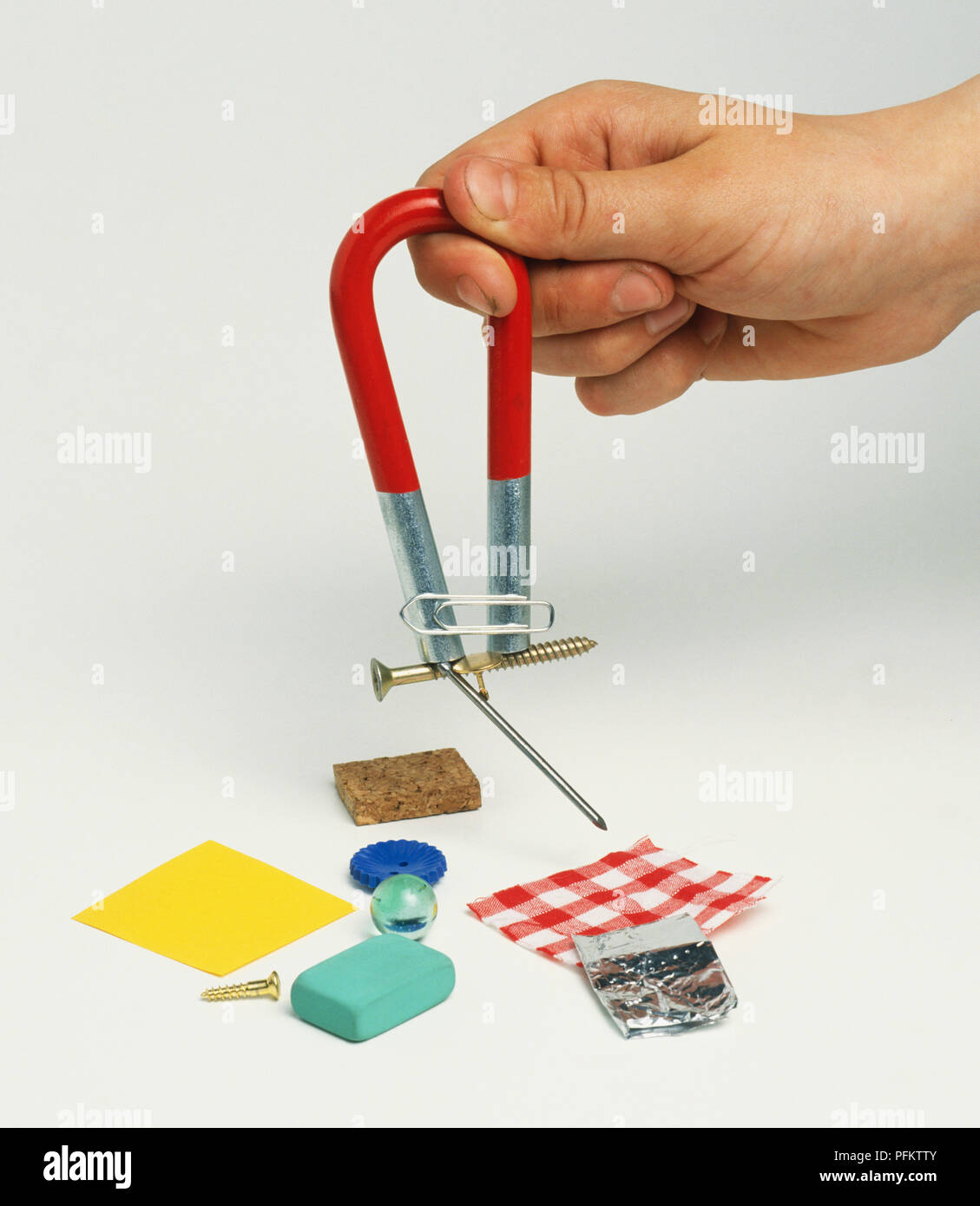 Picking Up Safety Pin Screw And Nail With A Magnet