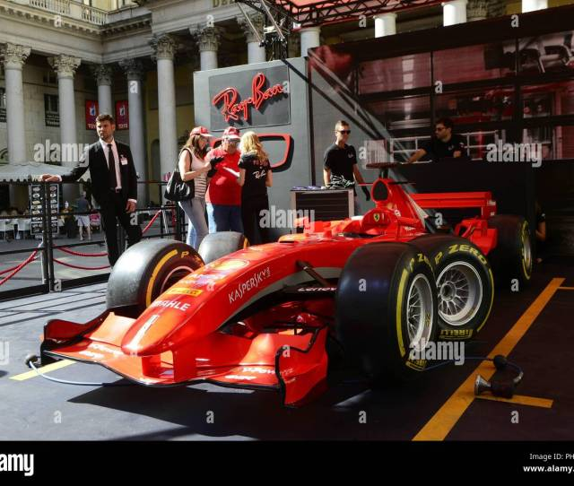 Formula 1 Milan Festival 2018 Piazza San Carlo Ferrari F1 Box With Pit Stop Simulation Giovanni Gussoni Milano  Ps The Photo Can Be Used In