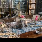 Wine Bar Tasting Set Up Decoration Many Wine Glasses And Bottles In Restaurant Stock Photo Alamy