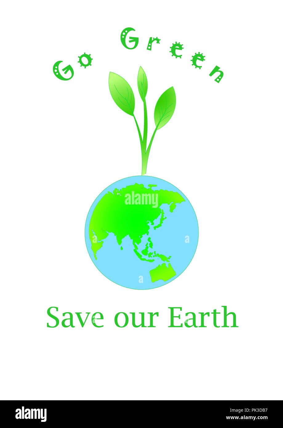 Go Green Save Our Earth Stock Photo Alamy