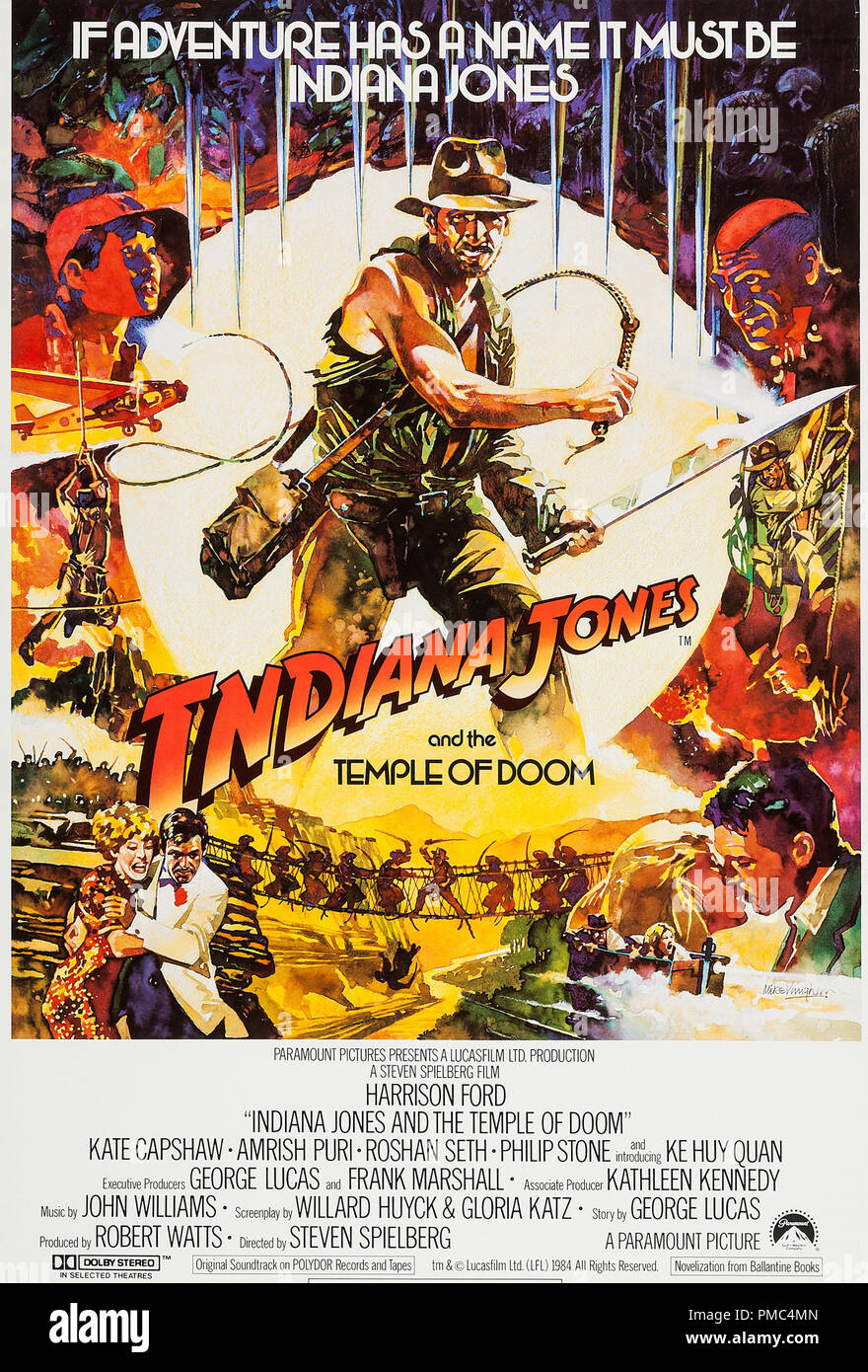 https www alamy com harrison ford indiana jones and the temple of doom paramount 1984 british poster file reference 33595 876tha image219084677 html