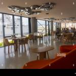 Marseille France Inside View Mucem Museum Empty French Cafe Interior Tables Stock Photo Alamy