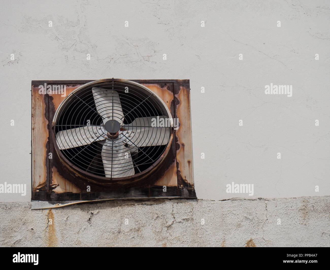 https www alamy com industrial ventilation exhaust fan on wall image220291743 html