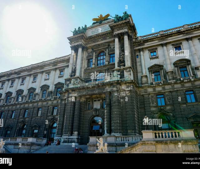 Hofburg Imperial Palace In Vienna With Sun In Background Austria
