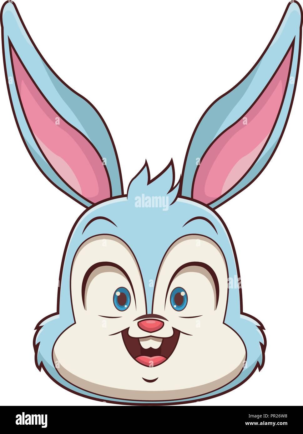 Rabbit Cartoon Face Stock Vector Image Art Alamy