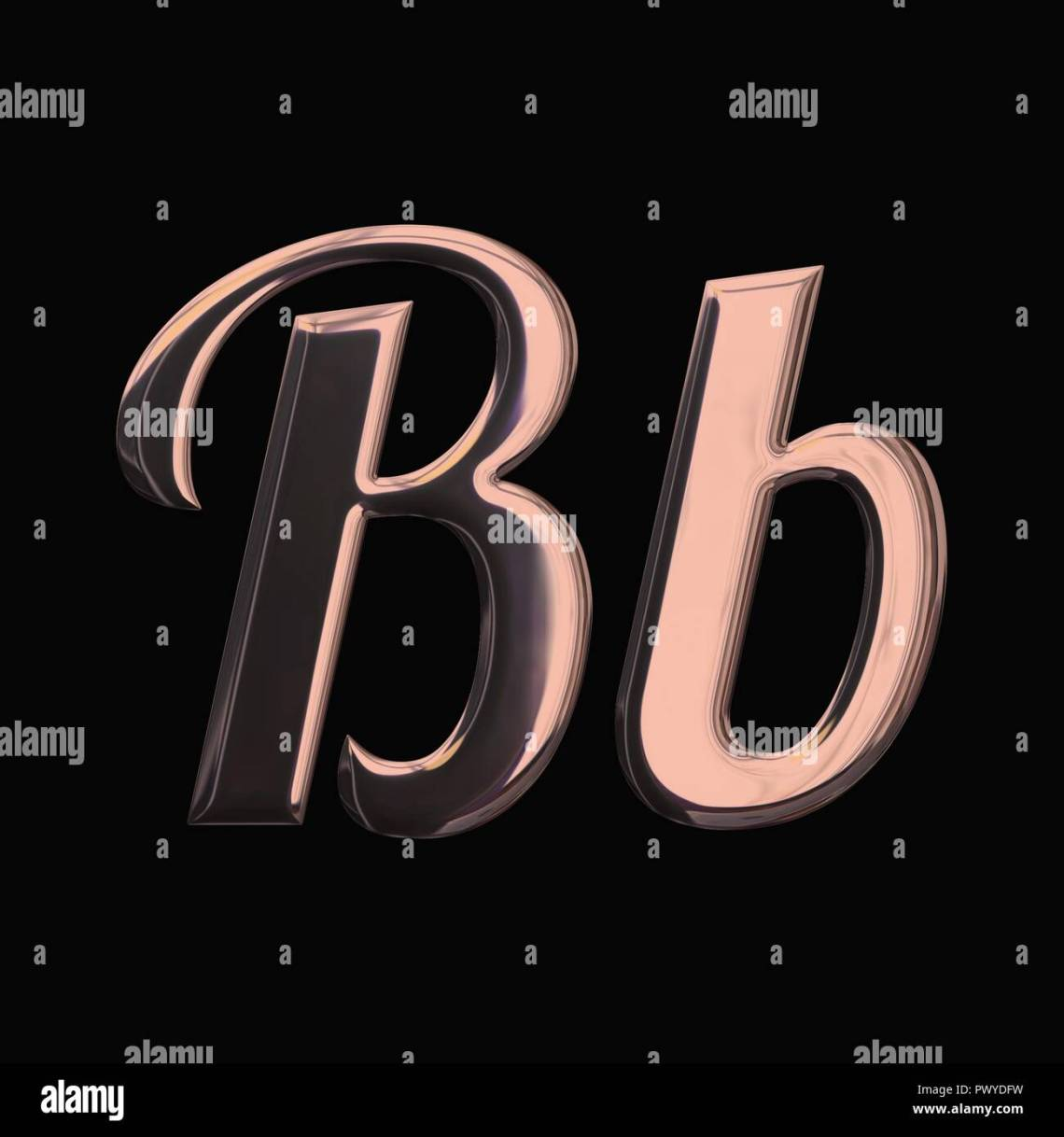 Download Design font with 3D rendering and metallic rose gold ...