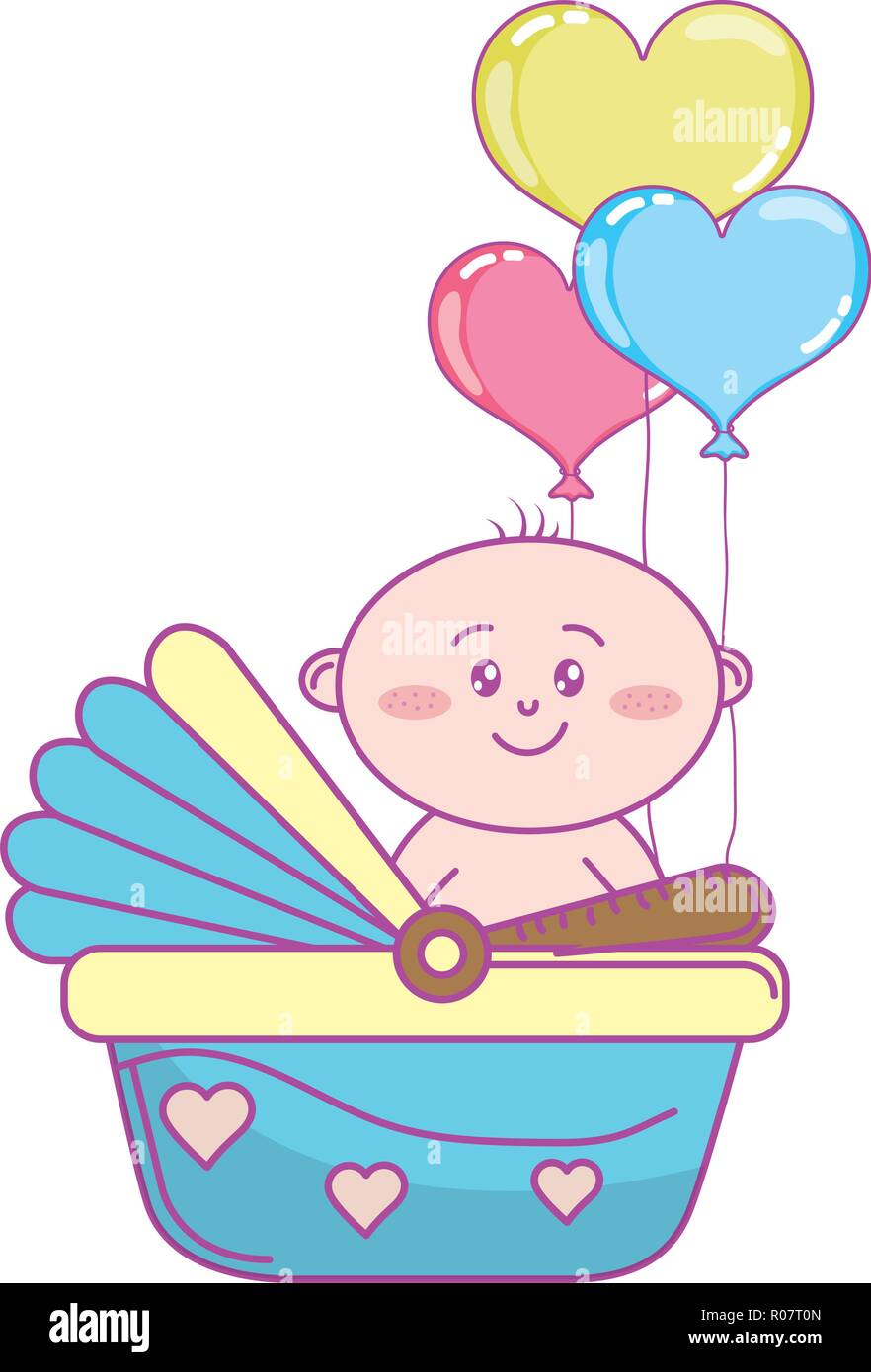 Baby Shower Cartoon Stock Vector Image Art Alamy