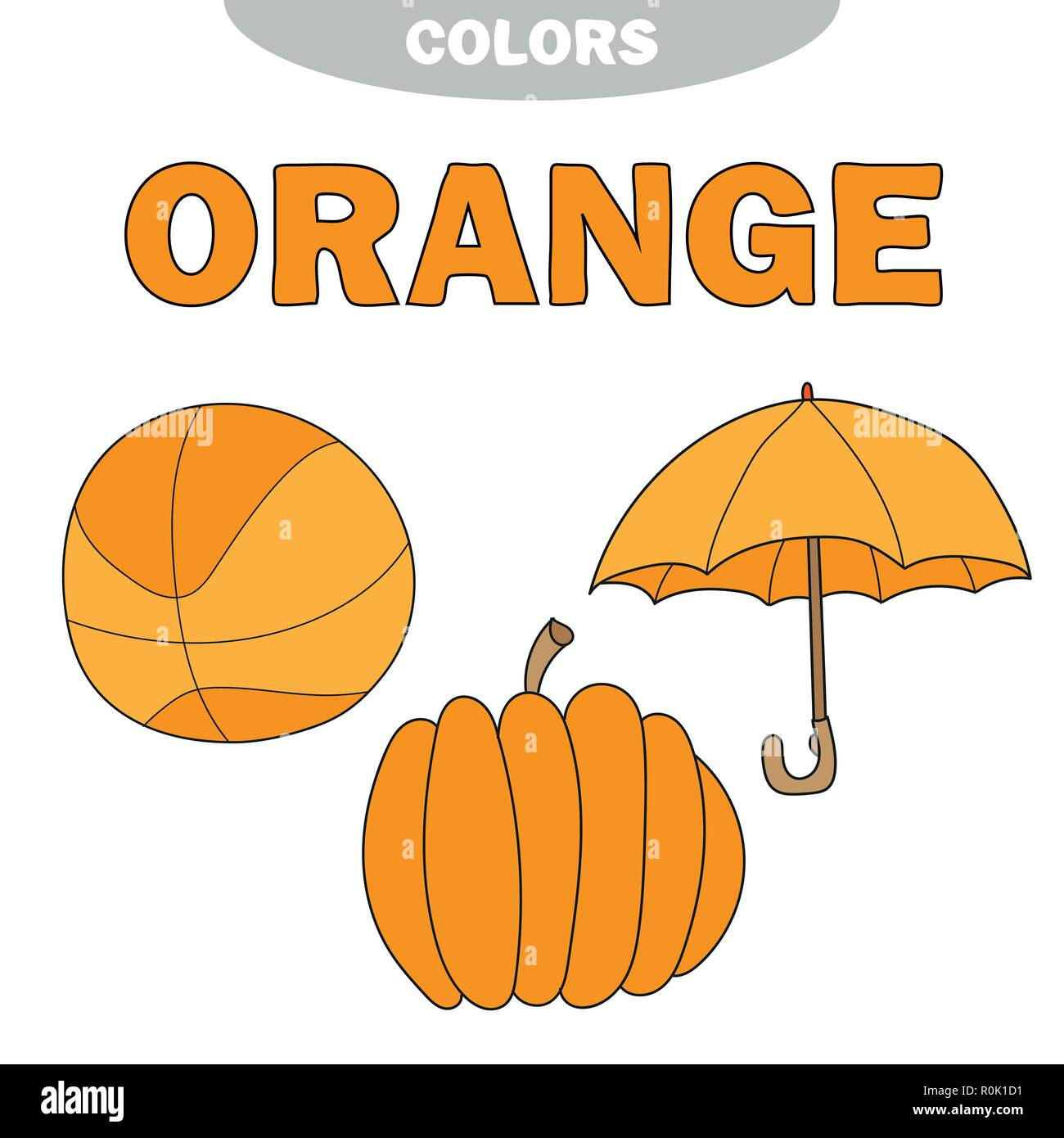 Color Orange Worksheet Teaching
