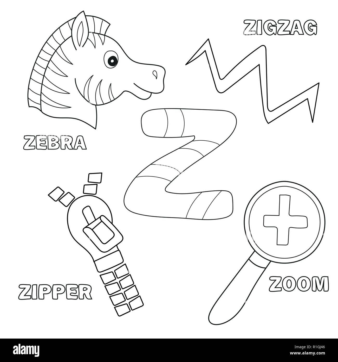 Cartoon Illustration Zipper Clip Art Stock Photos