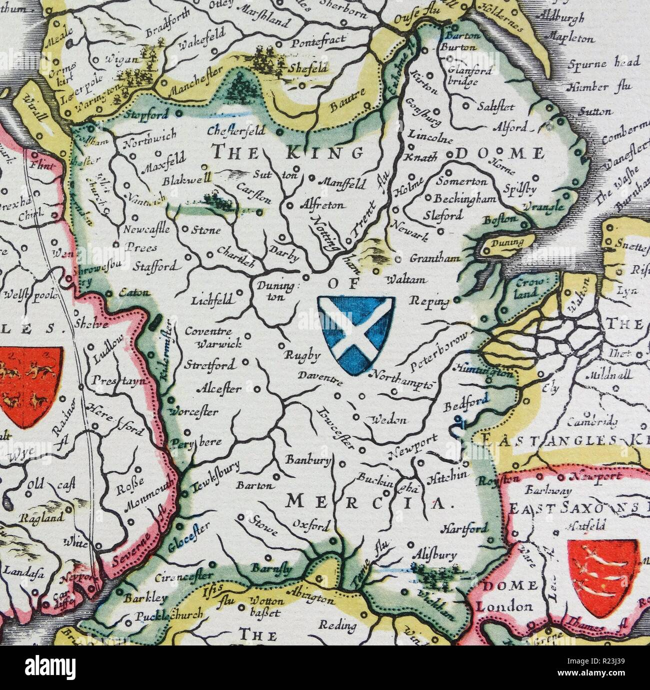 Shield Of Mercia From The Heptarchy A Collective Name