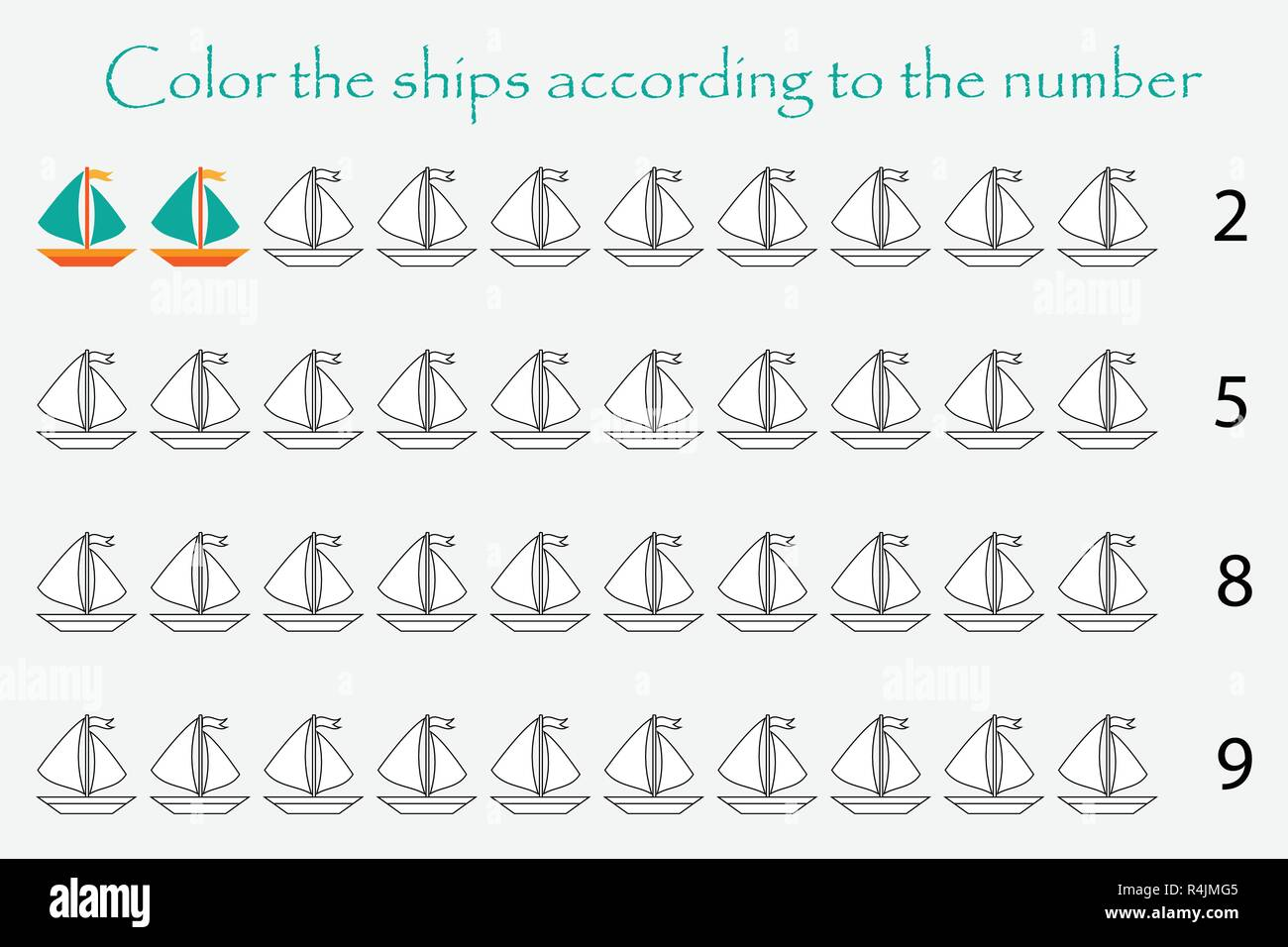 Maths Activity Coloring Stock Photos Amp Maths Activity Coloring Stock Images