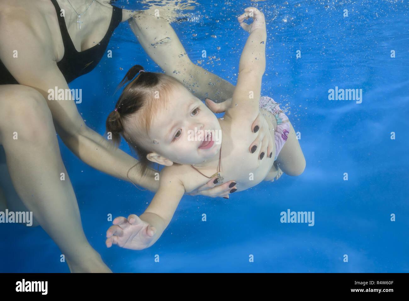 Little Girl Learning Swim Swimming Stock Photos Amp Little Girl Learning Swim Swimming Stock