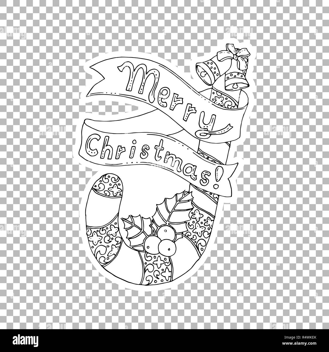 Christmas Drawing Black And White Stock Photos Amp Images
