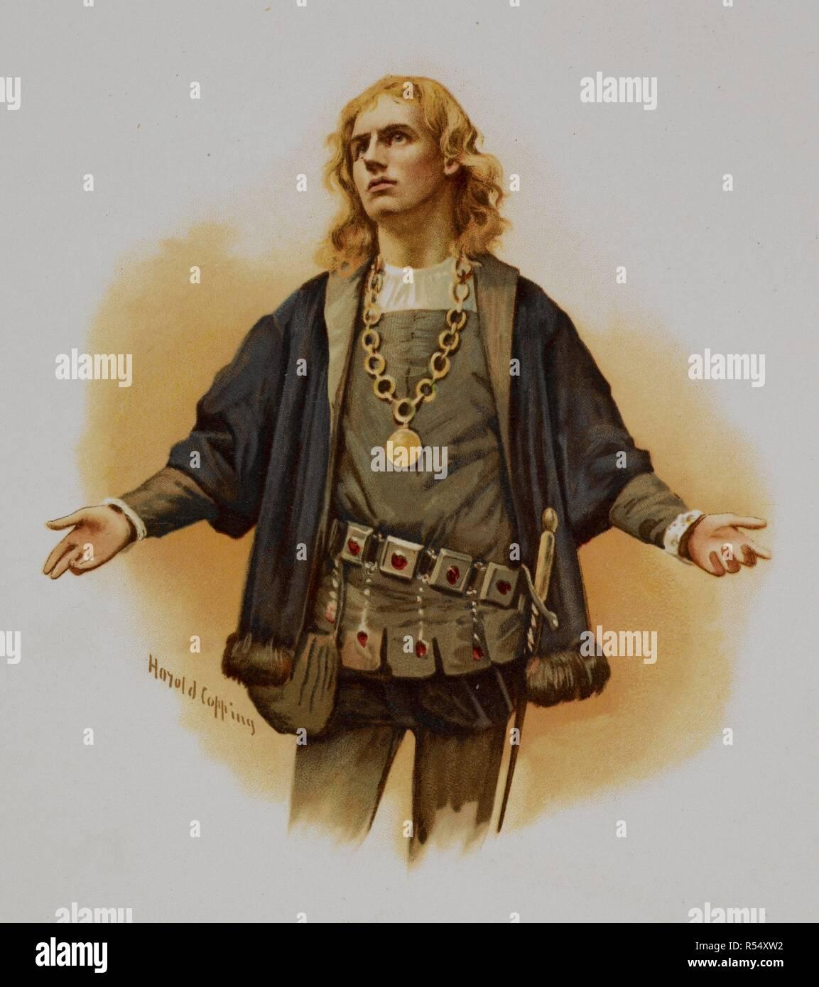 William Shakespeare Colour Portrait High Resolution Stock