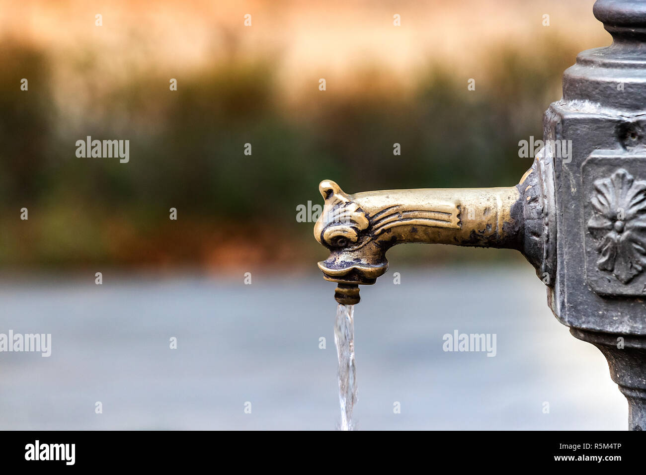 https www alamy com closeup of a vintage faucet drinking fountain in venice italy image227250934 html