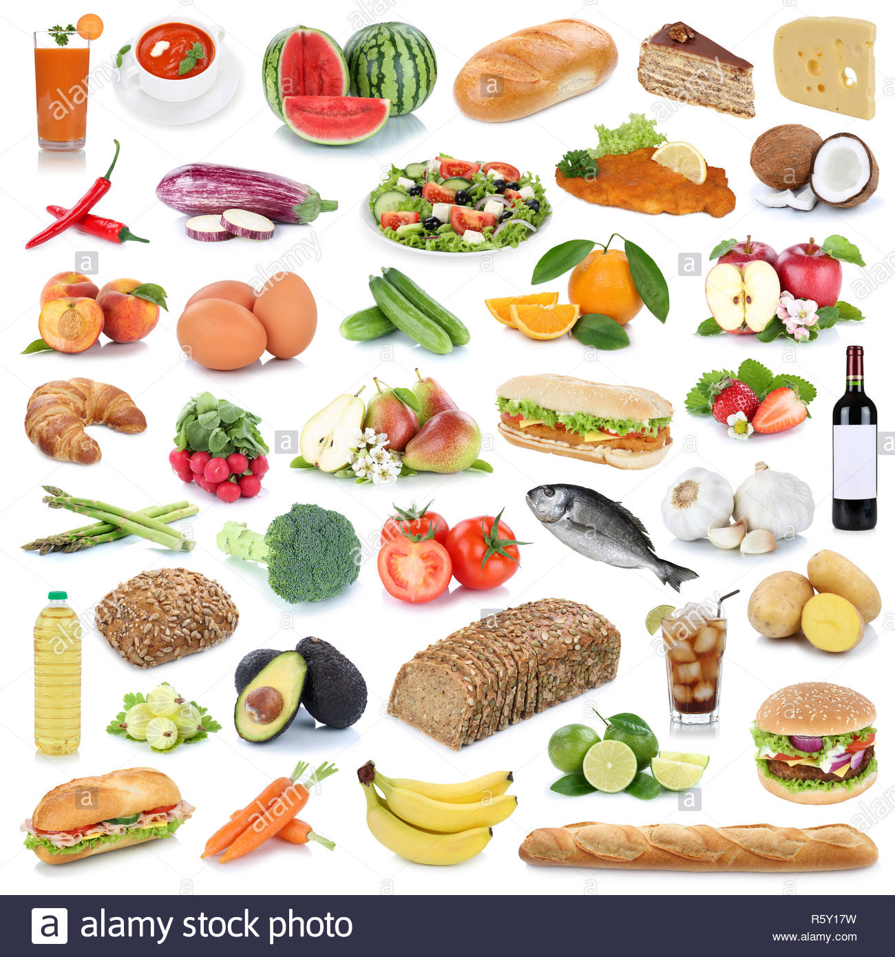Food Collection Background Healthy Food Fruit And