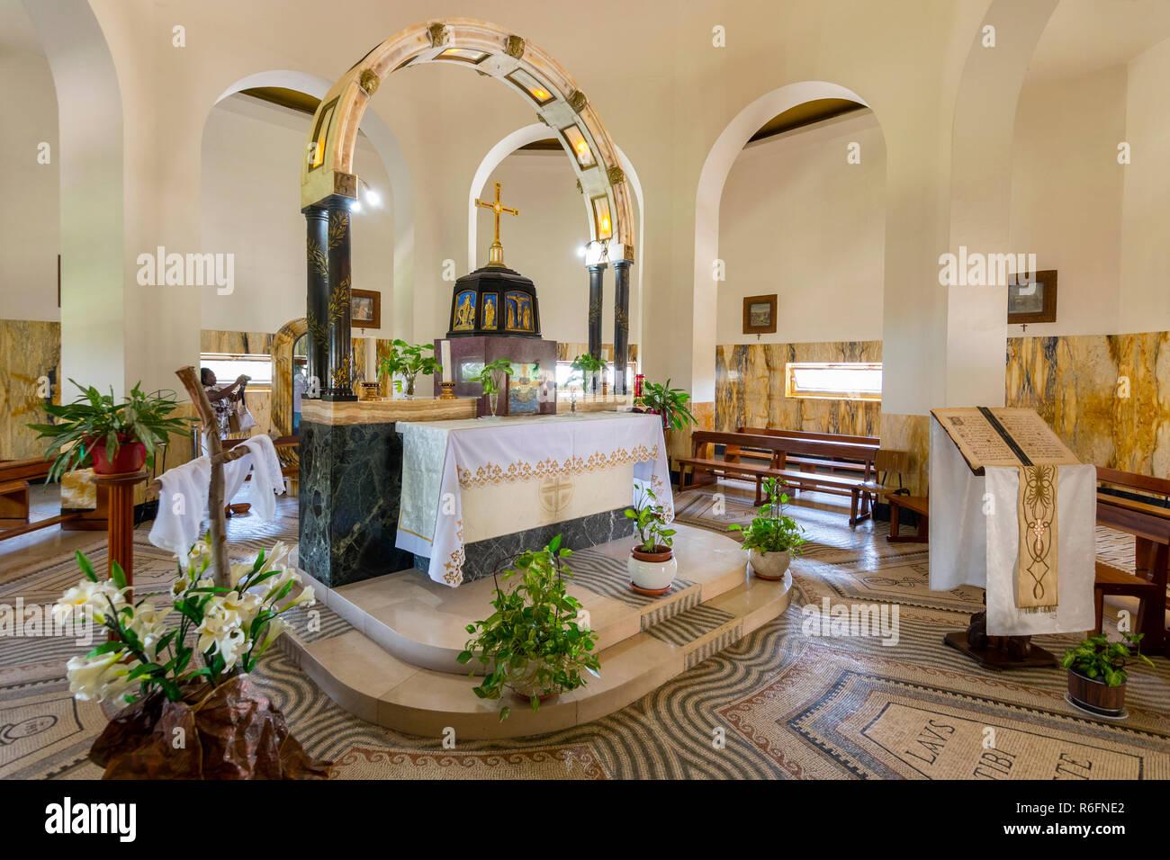 Interior Of The Church Of The Beatitudes Roman Catholic