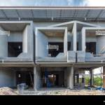 Two Storey Houses Are Under Construction In Thailand Modern House Design Stock Photo Alamy