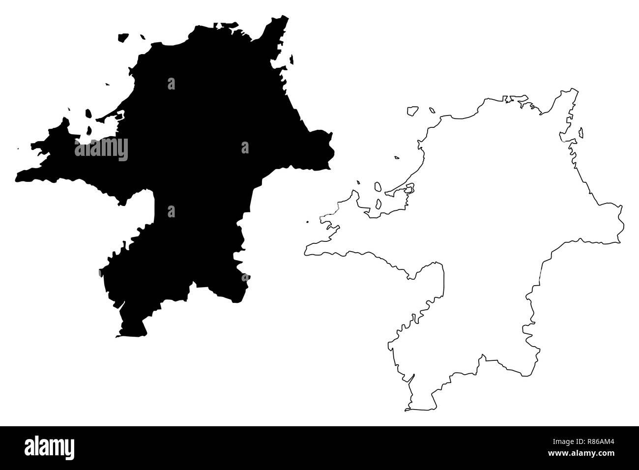Fukuoka Prefecture Administrative Divisions Of Japan Prefectures Of Japan Map Vector Illustration Scribble Sketch Fukuoka Map Stock Vector Image Art Alamy