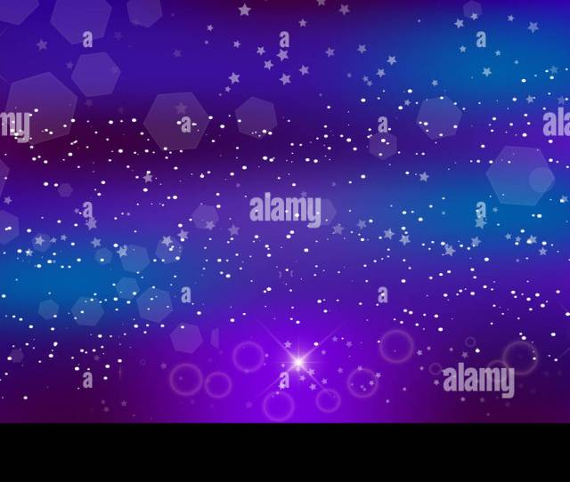 Fantastic Galaxy Rectangle Background Blurred Glowing Circles With Flowing And Liquid Concept Purple Neon