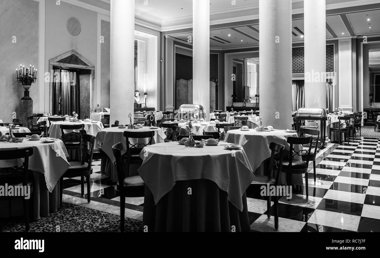Dining Table Black And White Stock Photos Images Alamy