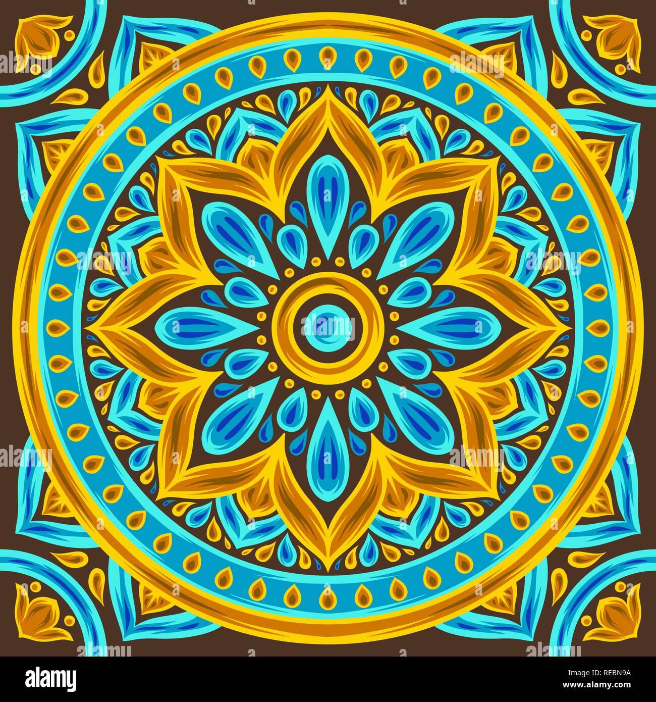 https www alamy com moroccan ceramic tile pattern image232598166 html