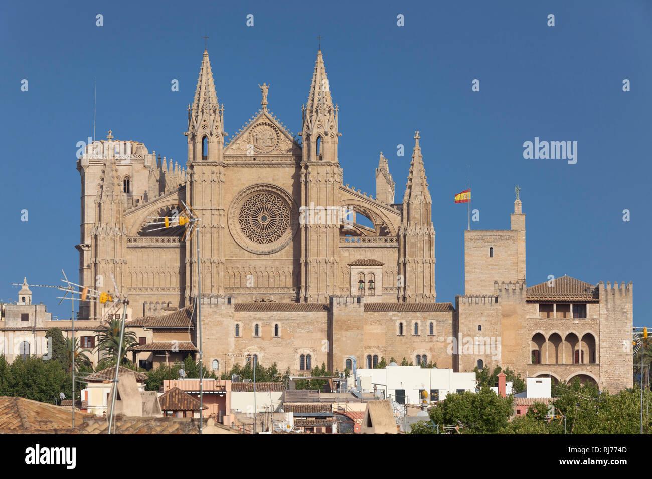 https www alamy com kathedrale la seu palma de mallorca mallorca balearen spanien image234957869 html