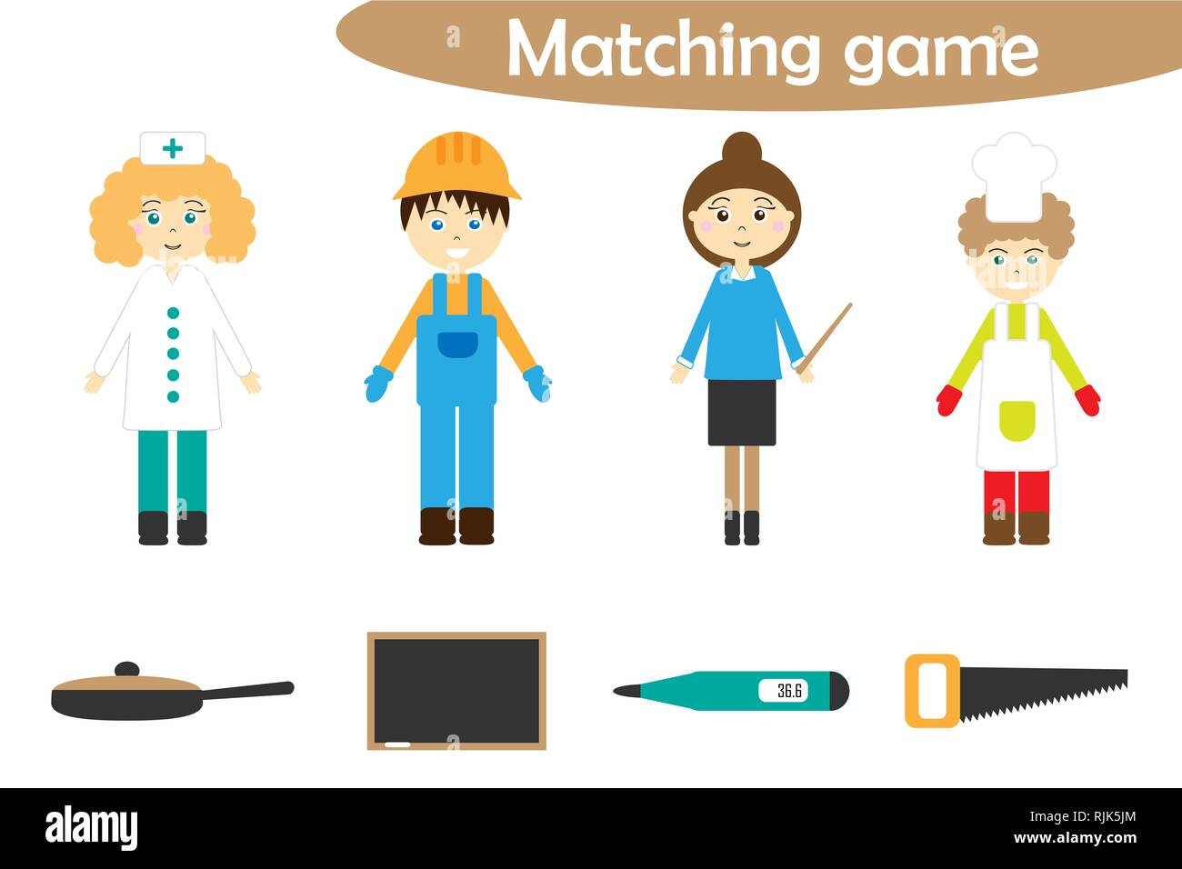 Matching Game School Stock Photos Amp Matching Game School