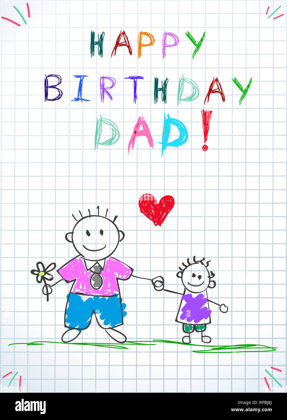 Happy Birthday Daddy High Resolution Stock Photography And Images Alamy