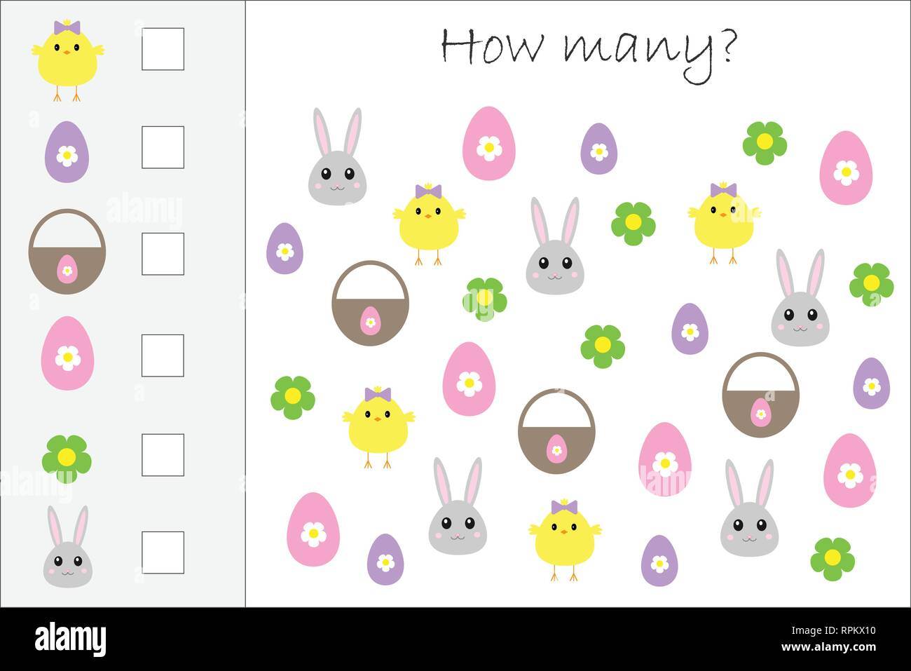 Counting Task Easter Bunny Stock Photos Amp Counting Task Easter Bunny Stock Images