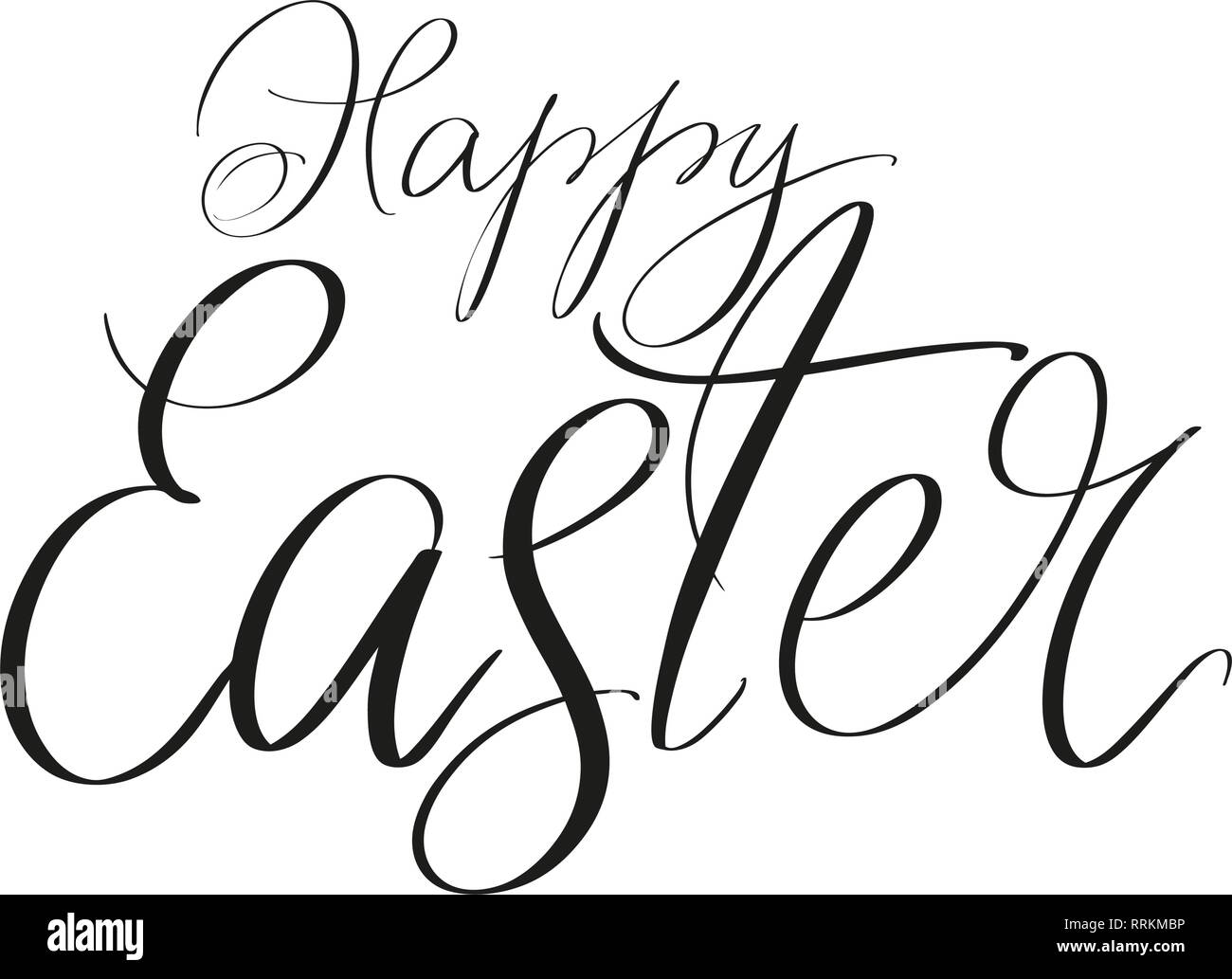 Easter Greetings Black And White Stock Photos Images Alamy