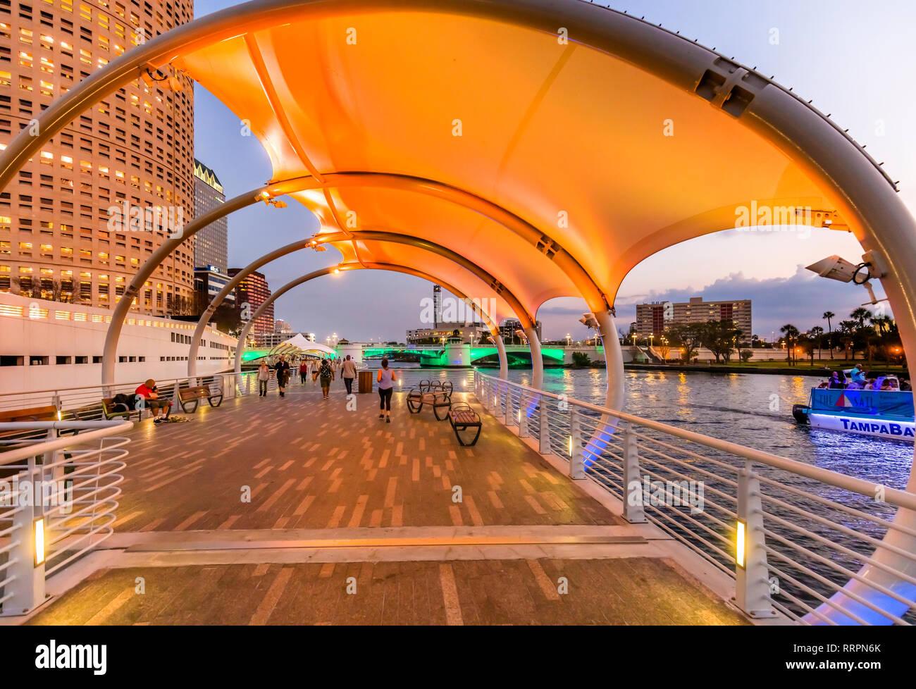 Downtown Tampa Florida Night Stock Photos Amp Downtown Tampa Florida Night Stock Images