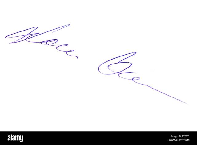 Fictitious Signature High Resolution Stock Photography and Images