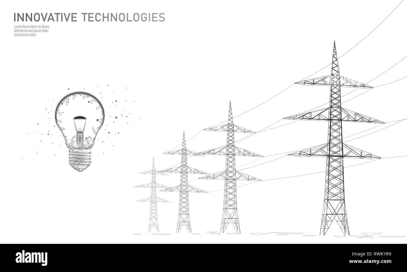 Transmission Power Pylons Black And White Stock Photos
