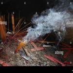 Burning Incense Sticks In China Hangzhou Stock Photo Alamy