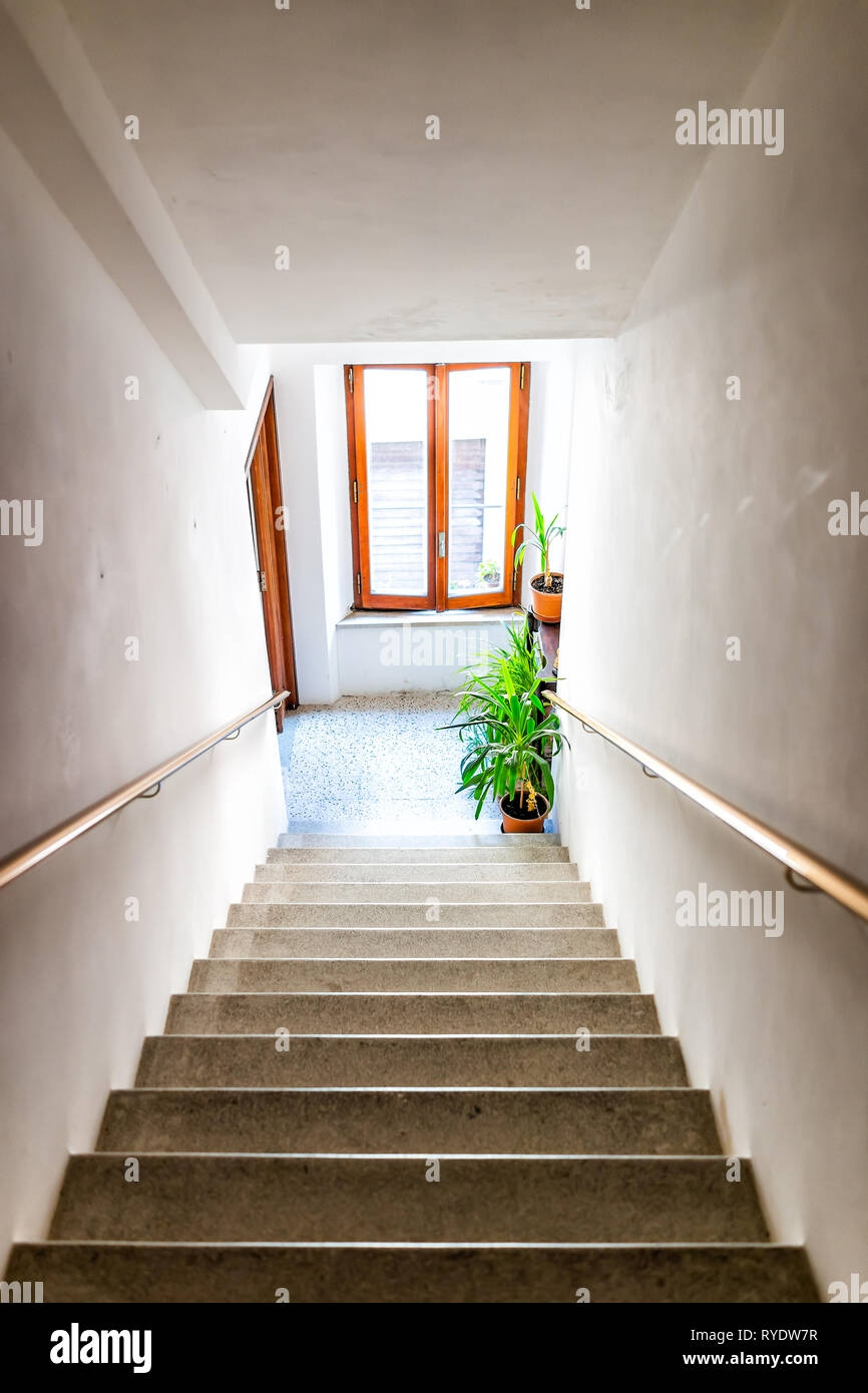Vertical View Of Hall Interior In Italian Apartment Home With | Steps Design In Hall | Duplex House | Style Indian | Concept | Beautiful | Front Main Entrance