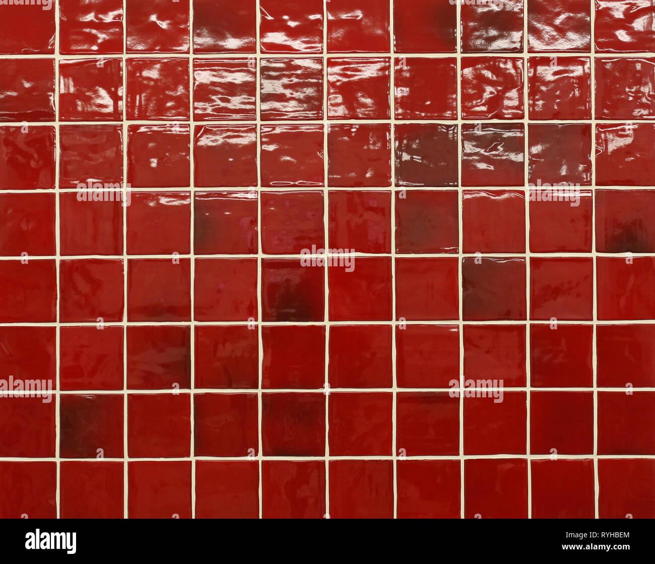 https www alamy com glazed red wall tiles with white grouting image240712716 html