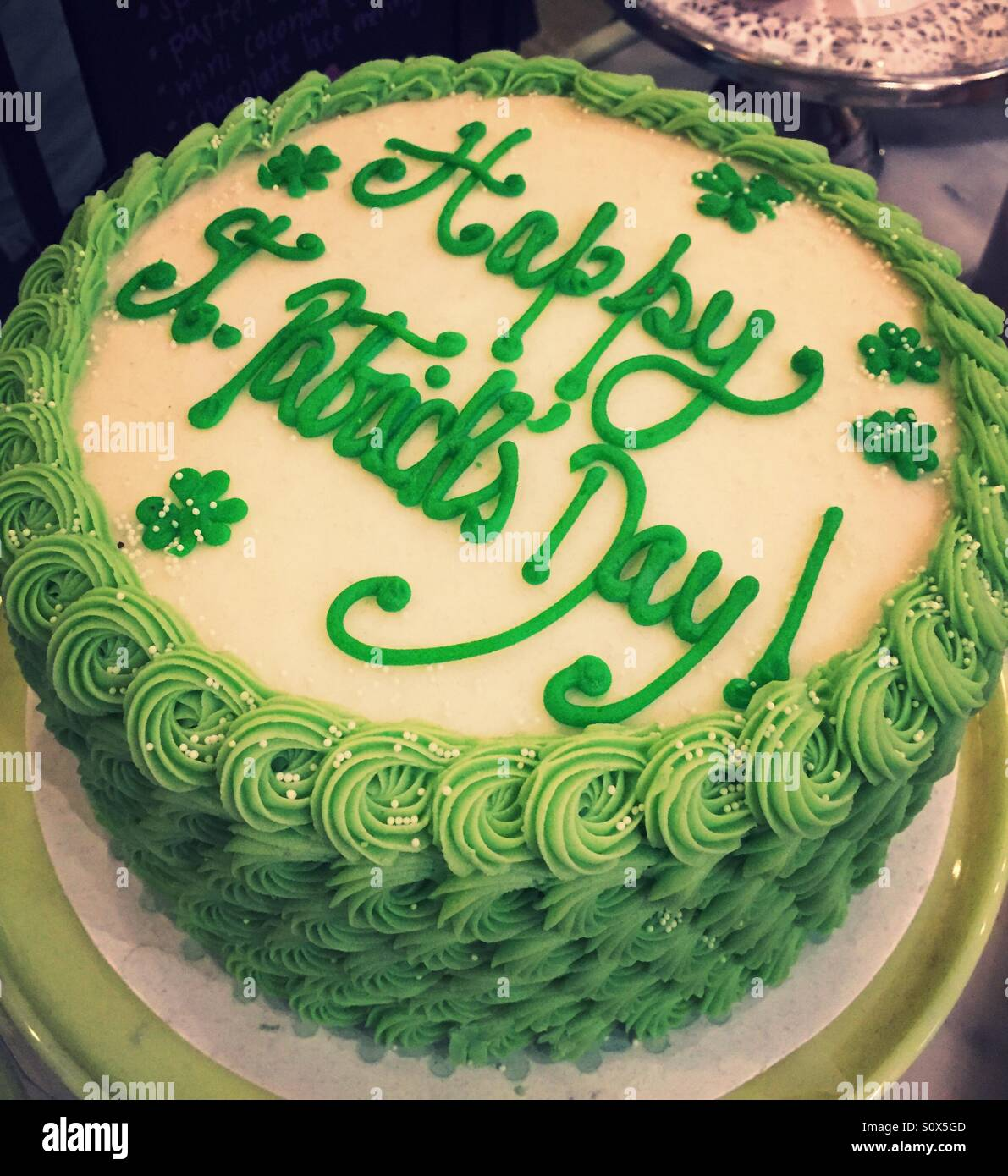 Happy St Patrick S Day Cake Stock Photo Alamy