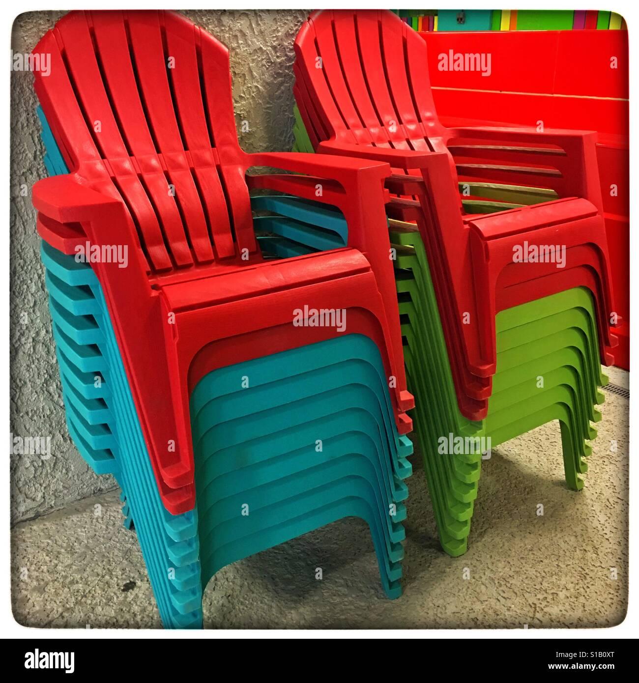 https www alamy com stock photo plastic adirondack chairs 310643504 html