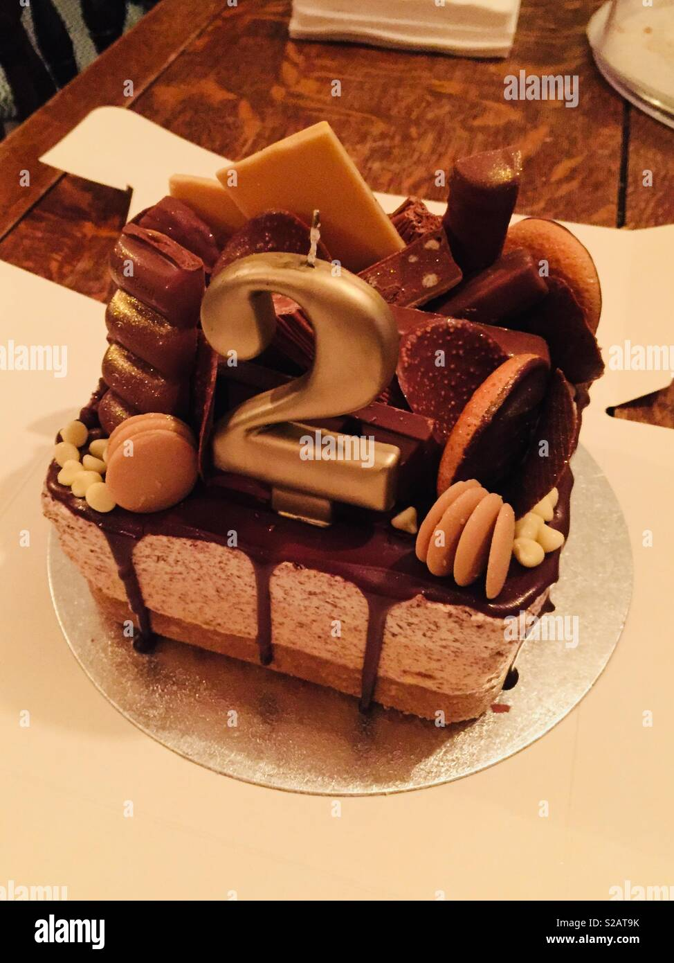 2nd Birthday Cake Stock Photo Alamy