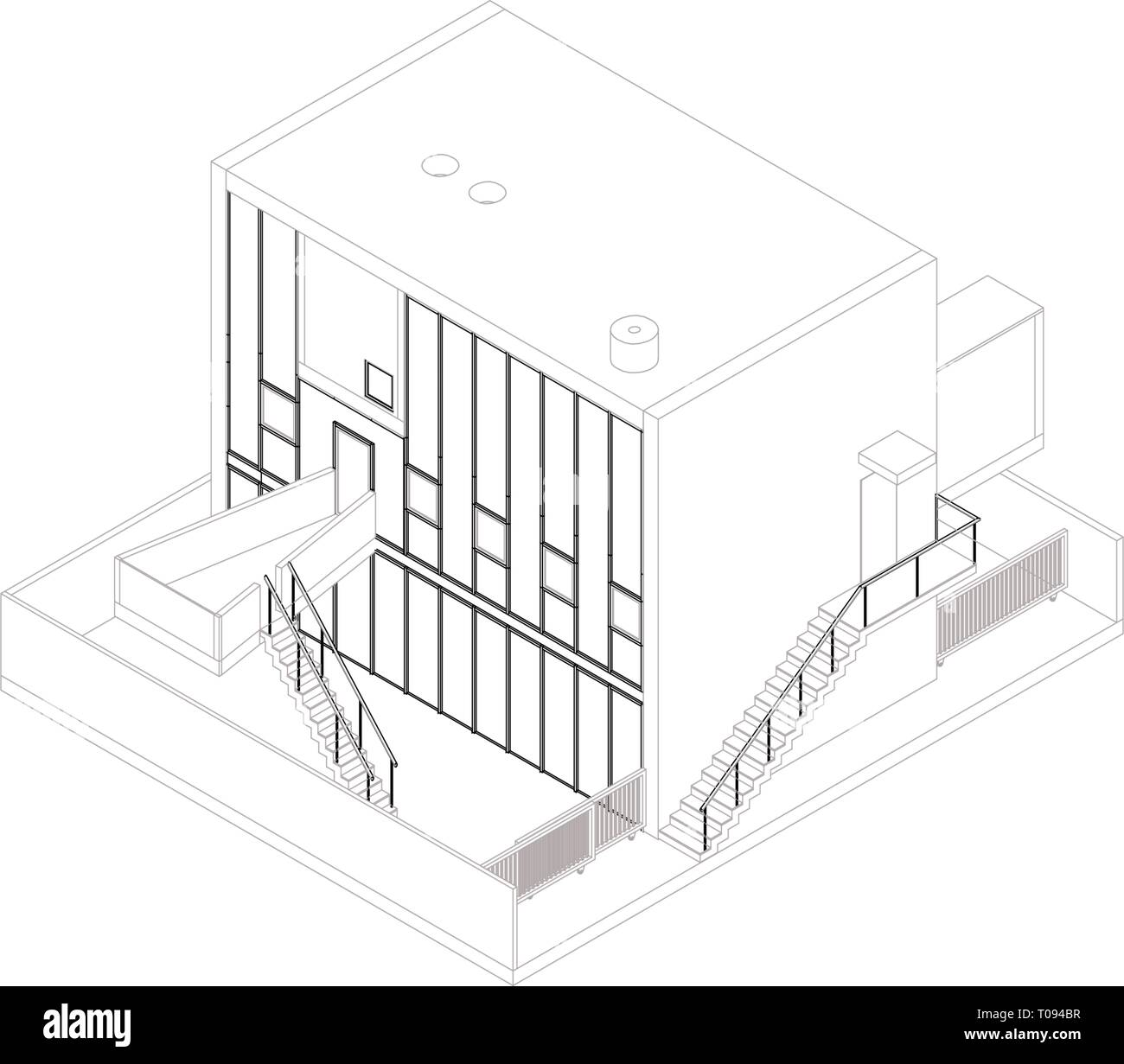 Isometric Building Cut Out Stock Images Pictures Alamy