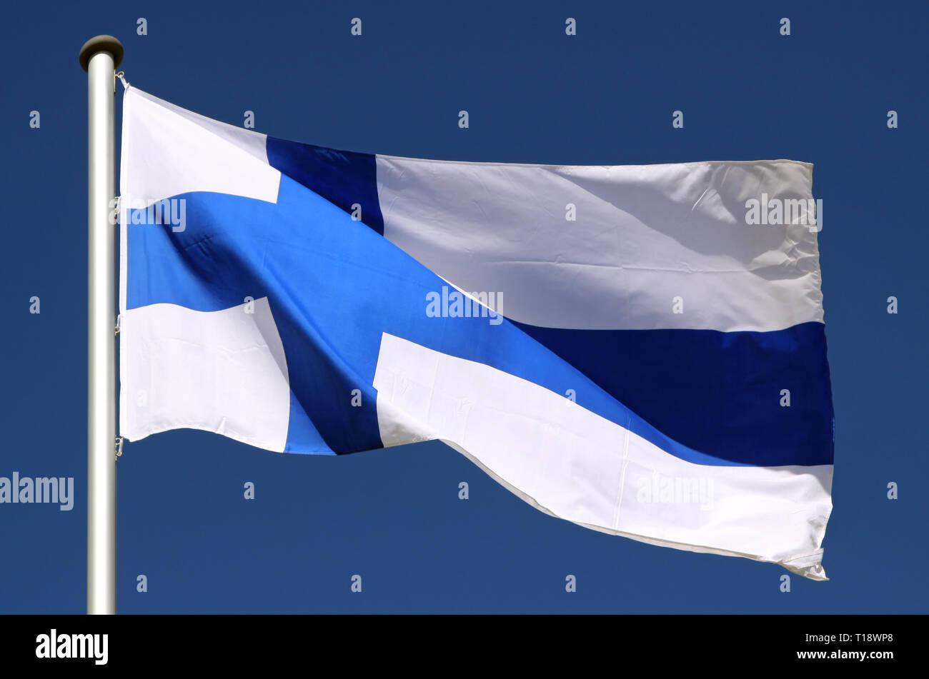 Flag Of Finland Stock Photo Alamy