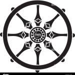 Buddhist Symbol Wheel Of Life Stock Vector Image Art Alamy