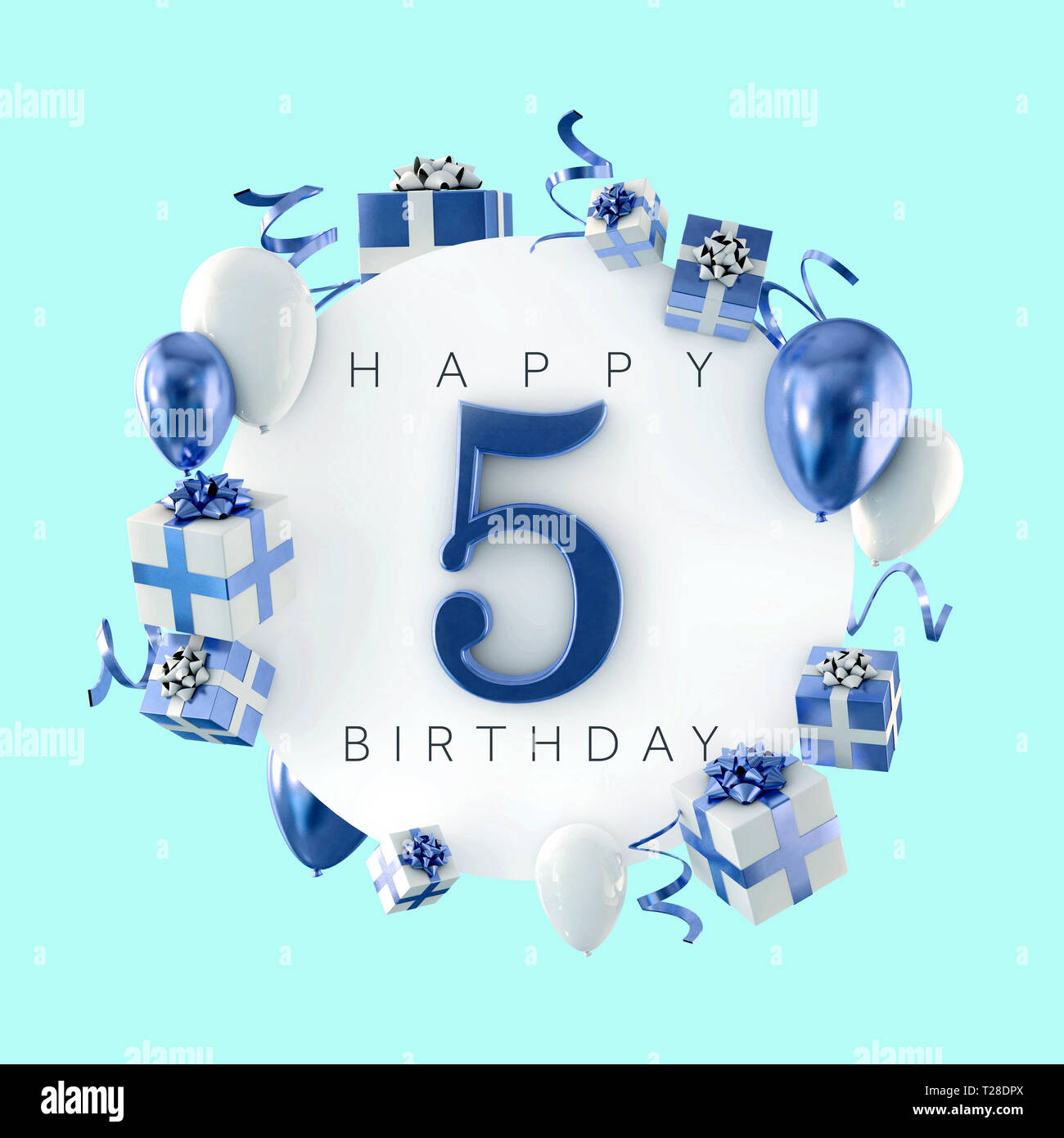 Happy 5th Birthday High Resolution Stock Photography And Images Alamy
