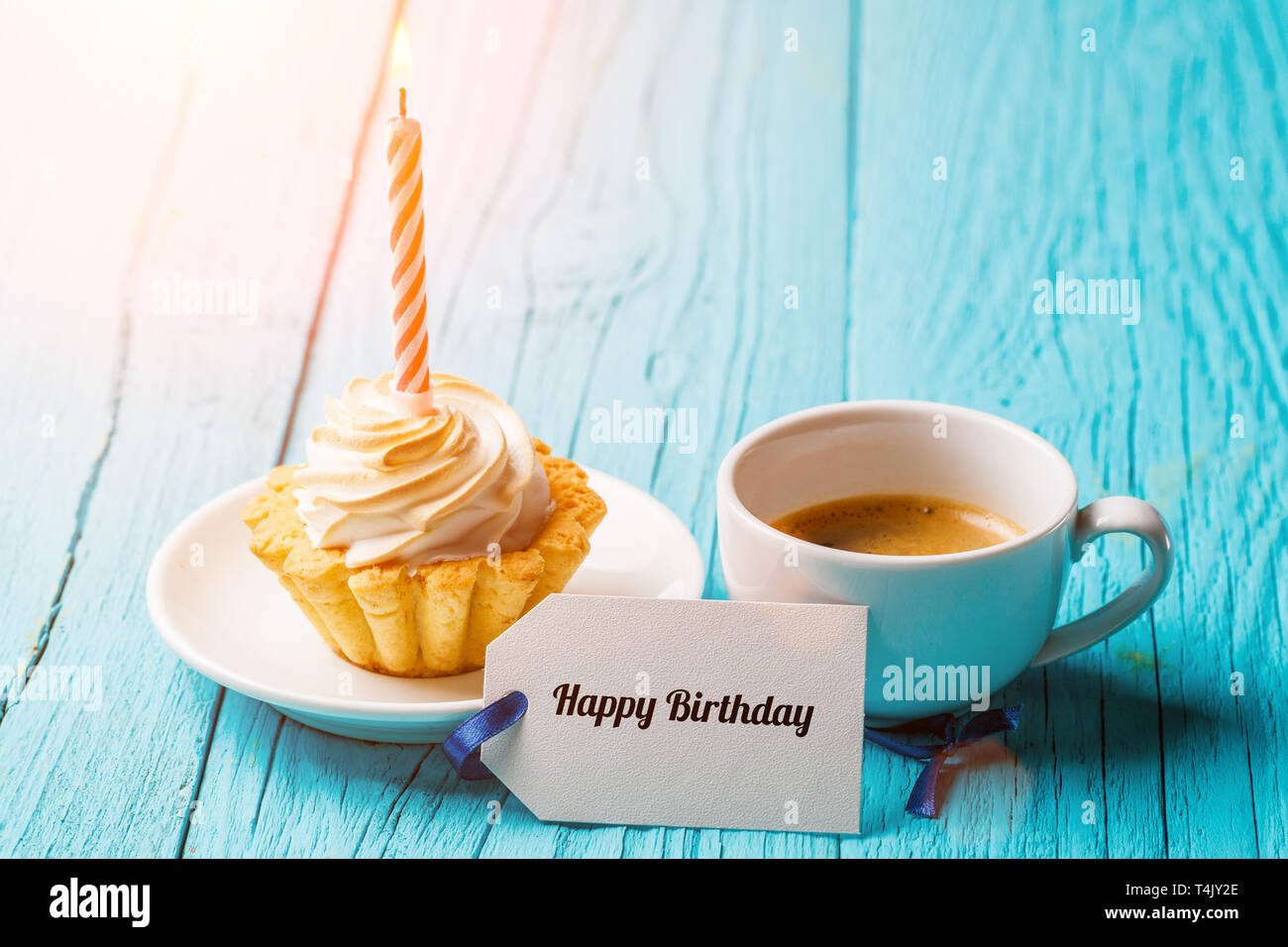 Happy Birthday Card Cup Coffee High Resolution Stock Photography And Images Alamy