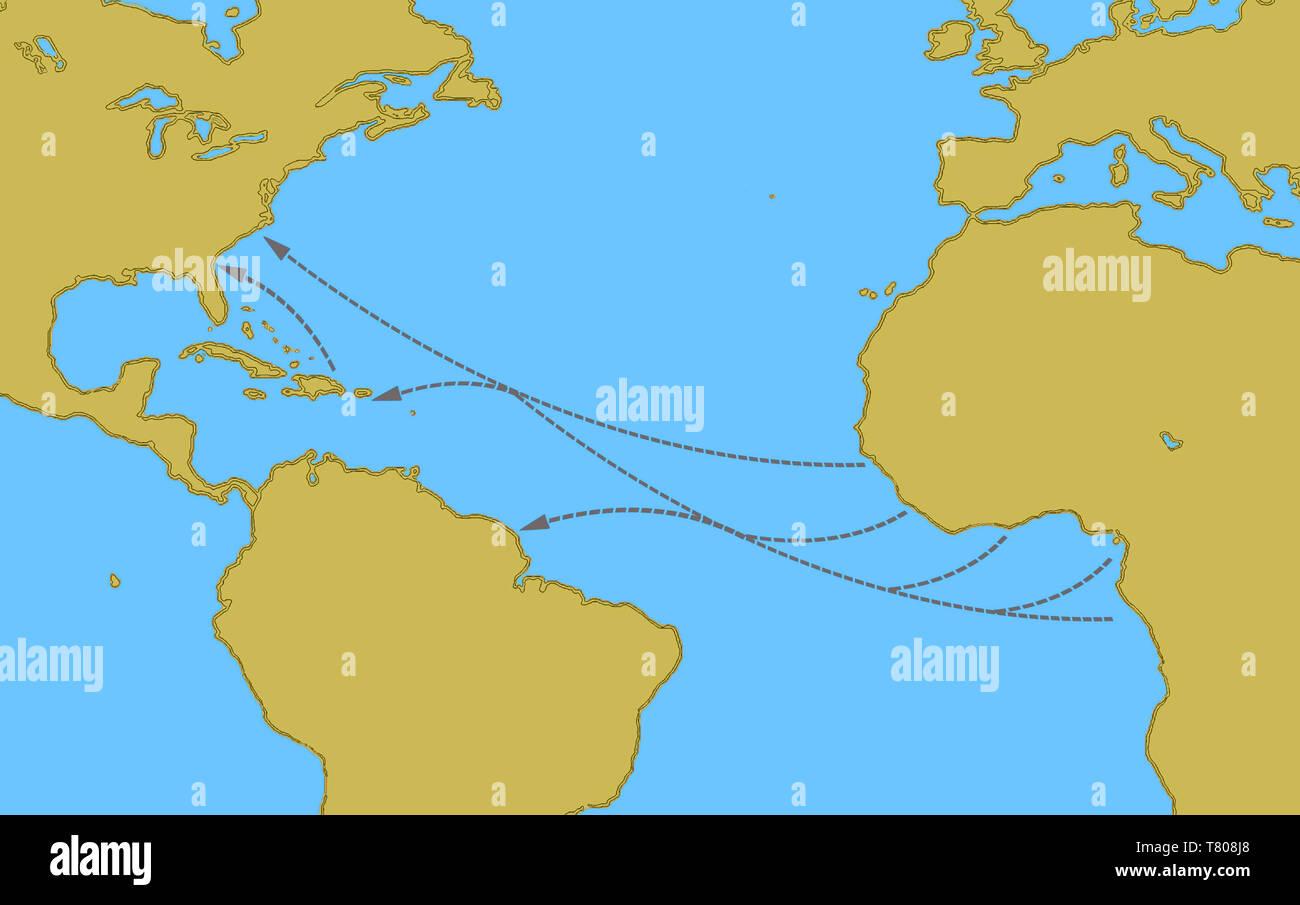 Amerigo Vespucci Map Route